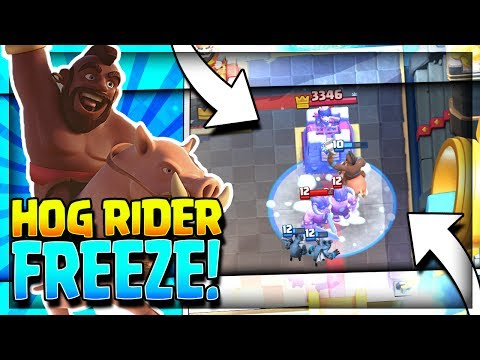 NEW ULTIMATE HOG FREEZE DECK!! Arena 8 to Arena 11 Hog Rider Deck - Clash Royale Stategy