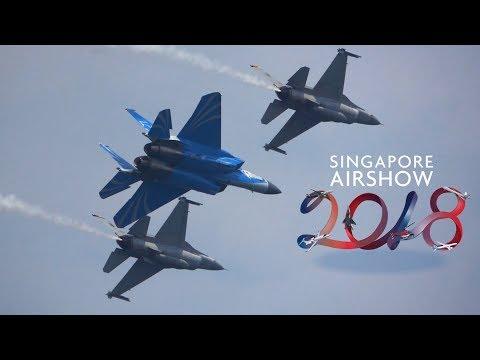 Singapore Airshow 2018 - RSAF50 & Aerobatic Displays