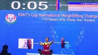 MIRABAI chanu weight lifting international gold medal lift #thailand  1ts  gold for