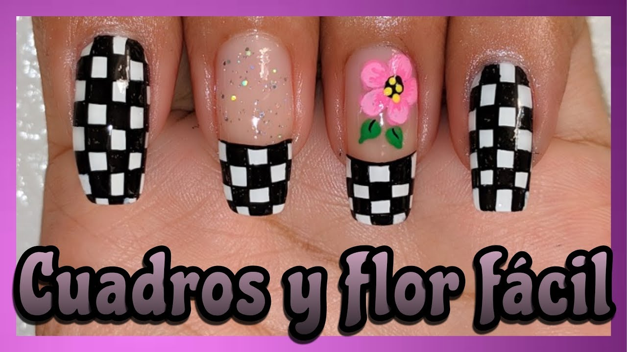 Decoración De Uñas Cuadros Con Flor Nailart By Andy