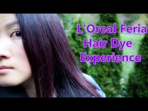 L Oreal Feria Hair Color In Chocolate Cherry Deep Burgundy Brown 36 Experience Tips