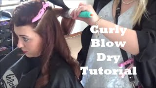 Curly Blow dry tutorial