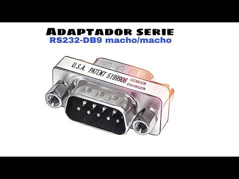 Video de Adaptador serie RS232 DB9 hembra-hembra  Gris