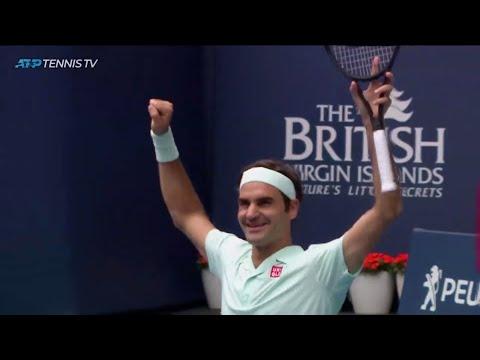 El suizo Roger Federer, venció este domingo al estadounidense John Isner
