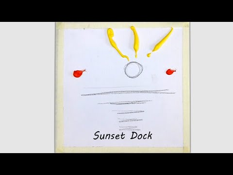 Acrylic Painting Techniques Draw Sunset Dock | Easy Painting | Landscape – # 255
