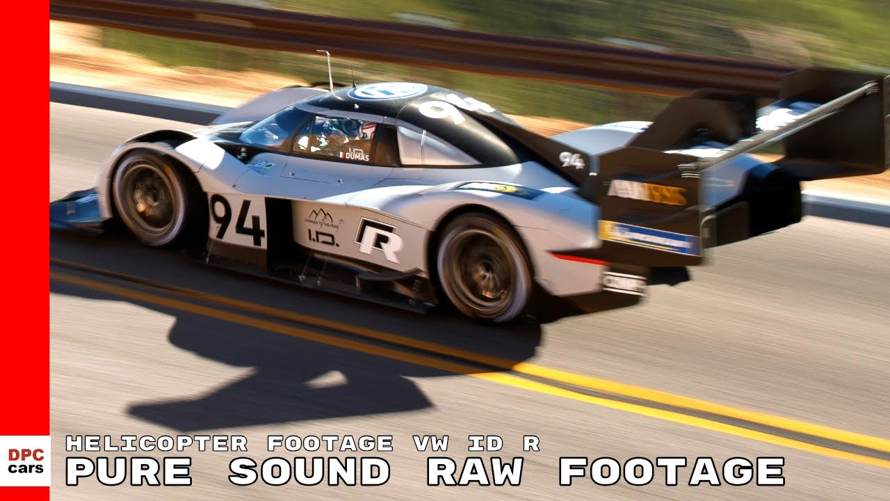 Pikes Peak Helicopter Footage Volkswagen Id R Record Run