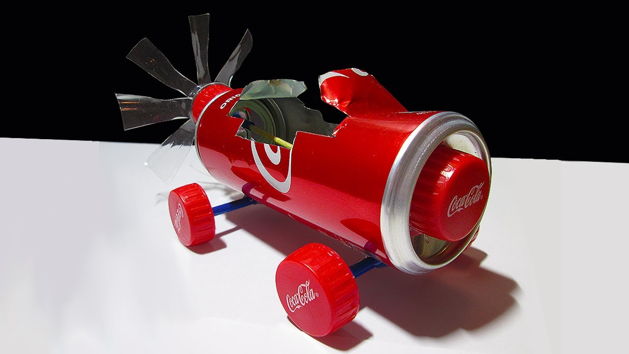 Coke Can Car How To Make A Awesome Coke Can Air Powered