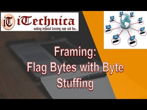2. Framing: Flag Bytes with Byte Stuffing with example