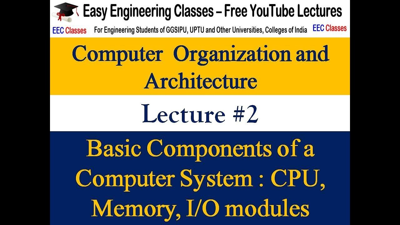 Coa Lecture 1 Introduction Difference B W Computer Organisation And Architecture Hindi Youtube