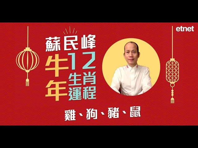 【牛年運程】蘇民峰講十二生肖(三):肖雞宜進修或投資!肖狗是非多!肖豬難脫單!肖鼠易感孤獨!