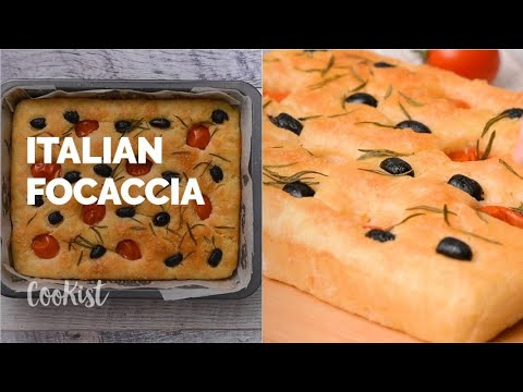 Olive Rosemary Italian Focaccia: quick and easy!