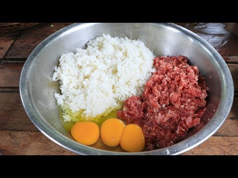 Yummy cooking rice fried with beef and egg recipe – Cooking skill