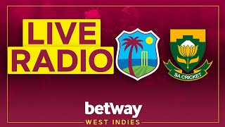 🔴LIVE RADIO | West Indies v South Africa | 2nd Test Day 1 | Betway Test Serieseries
