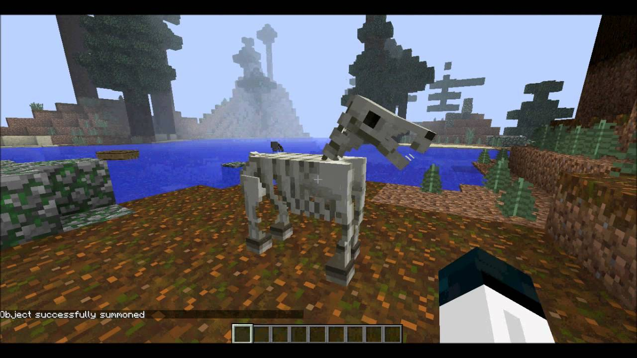 Minecraft Snapshot 13w37b17 How To Get Skeleton And Zombie Horses YouTube