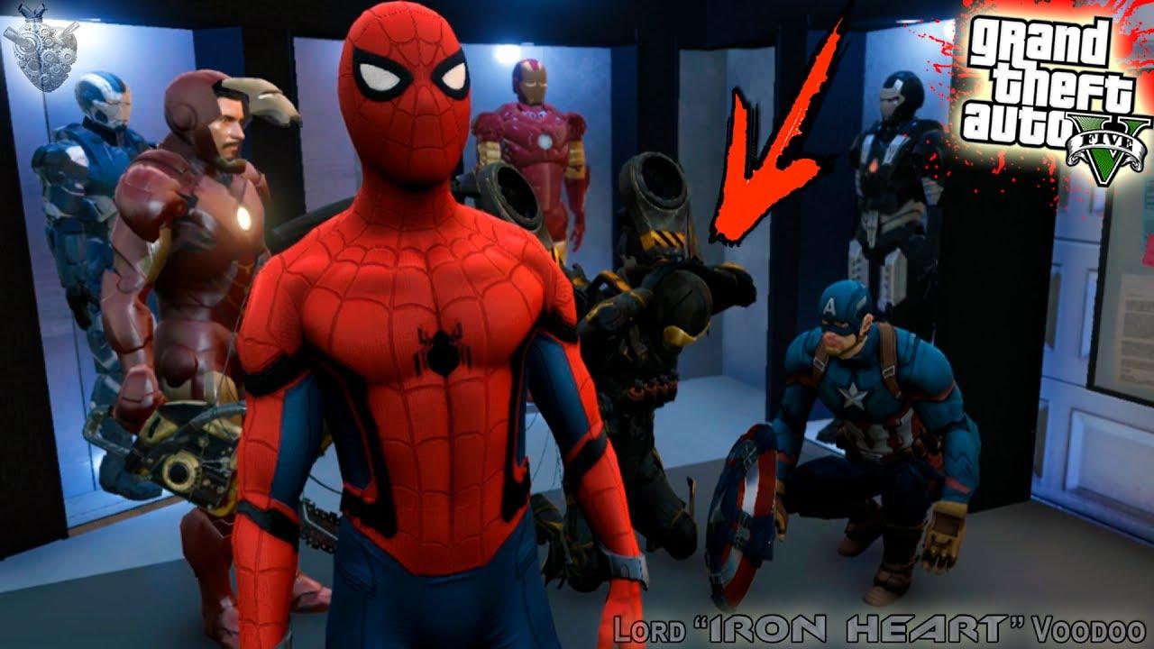 Мод человек паук гта 5 скачать