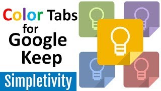 Google Keep Category Tabs (Organize Notes by Color)