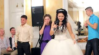 Невеста красиво спела для жениха ..... Я люблю тебя )