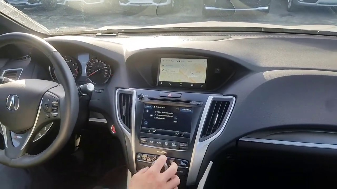 2018 Acura Tlx Featuring Android Auto Youtube