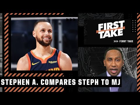 Stephen A. says Steph Curry can be compared to MJ offensively | First Take