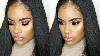 Holiday Makeup Tutorial | Red Glitter Eyeshadow