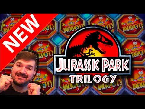 ??? NEW SLOT ALERT! ??? Jurassic Park Trilogy Slot Machine at Dakota Magic Casino - 동영상