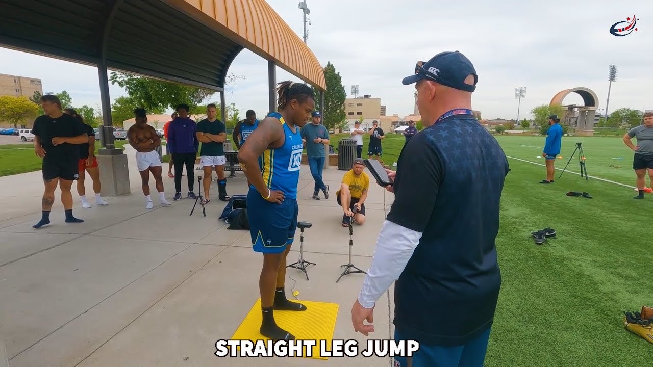Download Tre Smalls Straight Leg Jump USA Rugby Testing: CROSSOVER Academy Season 1 Clip