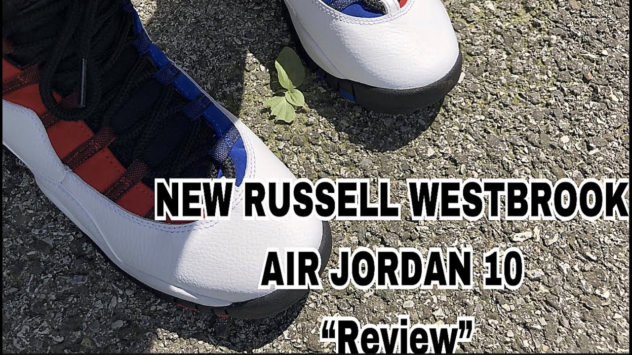 0e55b8040216c8 NEW Russell Westbrook air jordan 10 Review!!👀🔥(on a girl) - YouTube