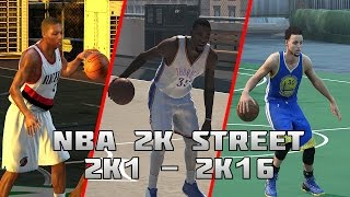 History of NBA 2K Street Blacktop - (2K1-2K16)