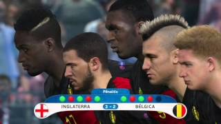 UEFA Euro 2016 (PES 2016) - Final: Inglaterra x Bélgica - Pênaltis - Gameplay [PS4]