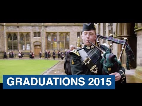 Graduations summer 2015 at the University of Glasgow.