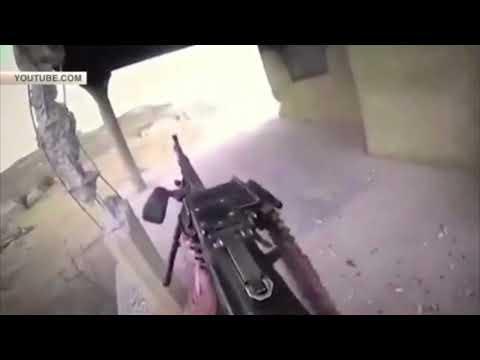 Кадры уничтожения боевика