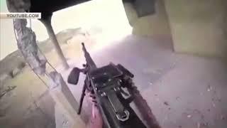 Кадры уничтожения боевика ИГИЛ, снятые им самим