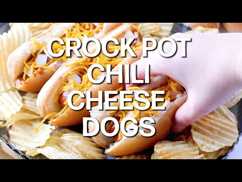 Crock Pot Chili Cheese Dogs Video The Country Cook