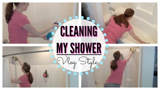 CLEAN WITH ME! | CLEANING MY SHOWER WITHOUT SCRUBBING VLOG | DIY BATHROOM CLEANSER!!