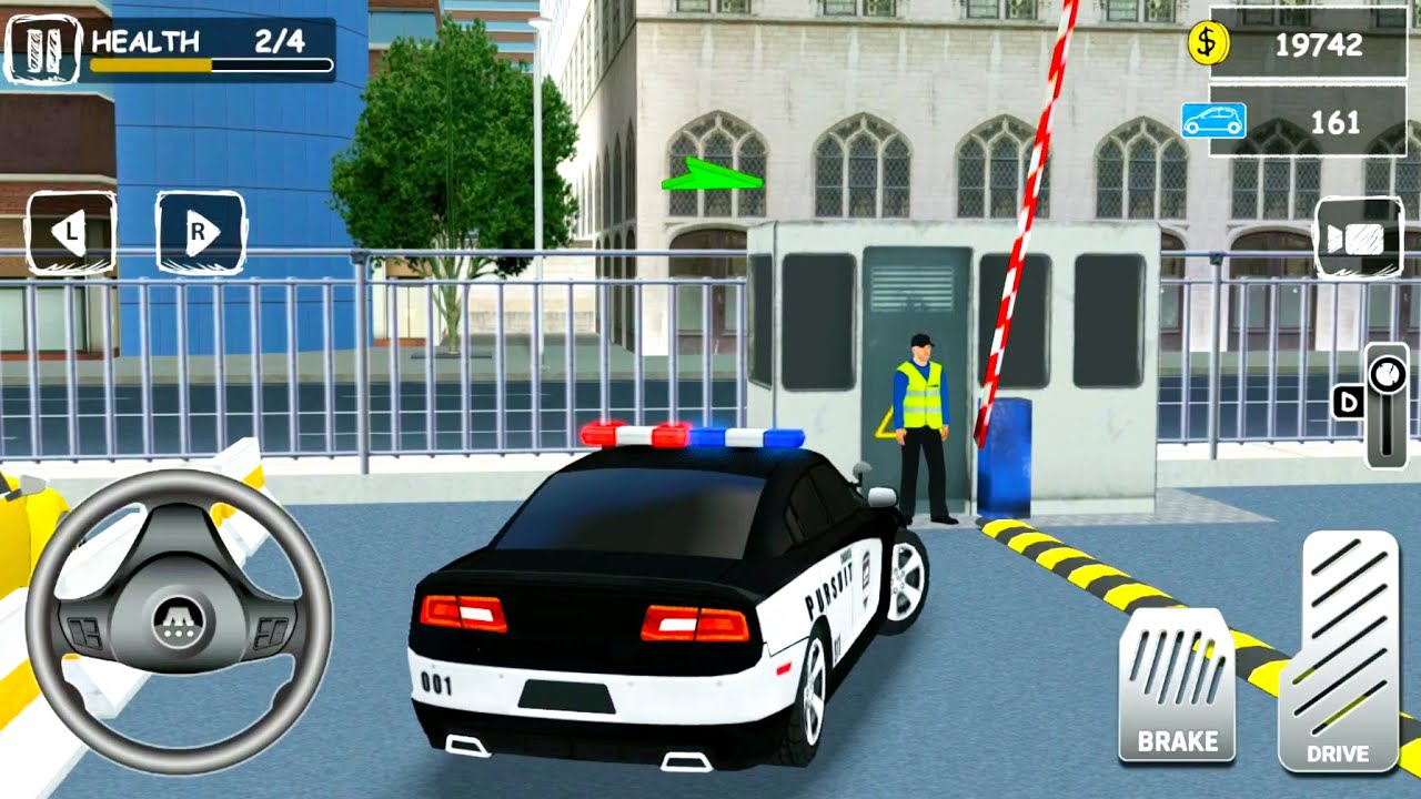 Parking Pro 3D #4: Police Cars and SUVs Driving On A Huge Parking -  Android Gameplay