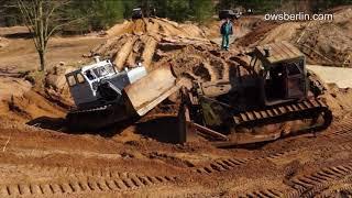 Bulldozer S-100 ( Stalinec ) Towing. Эвакуация бульдозера T-100.
