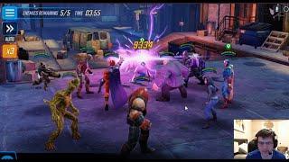 Arena - Magaurdians vs 6RS CB+Venom, KP-JJ-Vision - 233k vs 260k - Marvel Strike Force