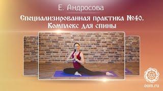 Хатха-йога. Комплекс для позвоночника и укрепления мышц спины. Екатерина Андросова