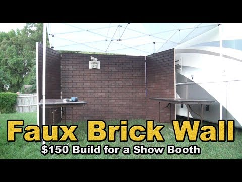 Faux Brick Wall for a show booth DIY