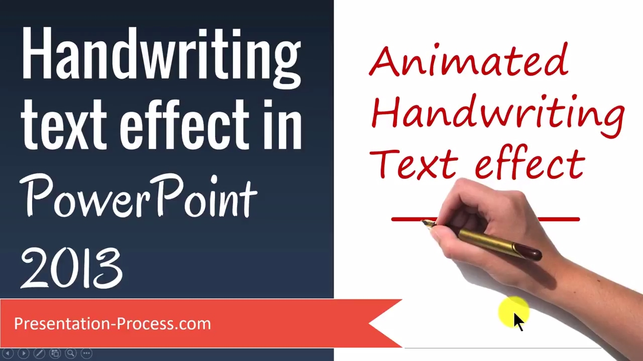 Handwriting Text Effect In Powerpoint