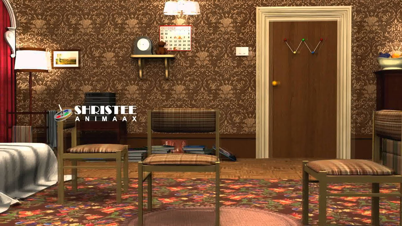 picture of a living room cartoon how to decorate with red brick fireplace mr.bean house - youtube