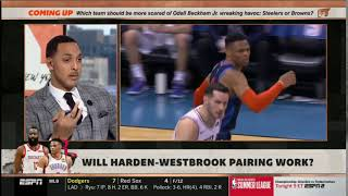 ESPN First Take | Stephen A. Smith EXPLAINS How will Westbrook-Harden pairing work with Rockets?