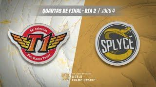 Mundial 2019: Quartas de Final - Dia 2 | SK Telecom T1 x Splyce (Jogo 4)