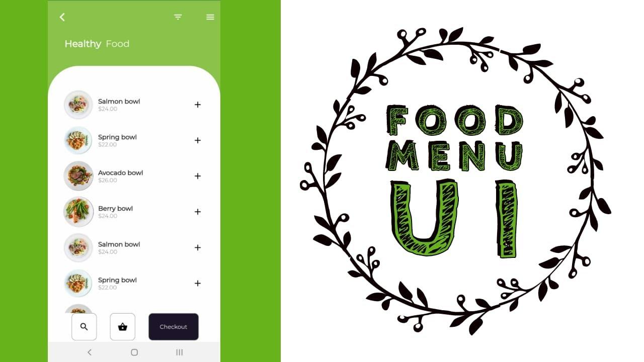 Food Menu UI - Flutter Templates | Flutter Beautiful Apps Designs
