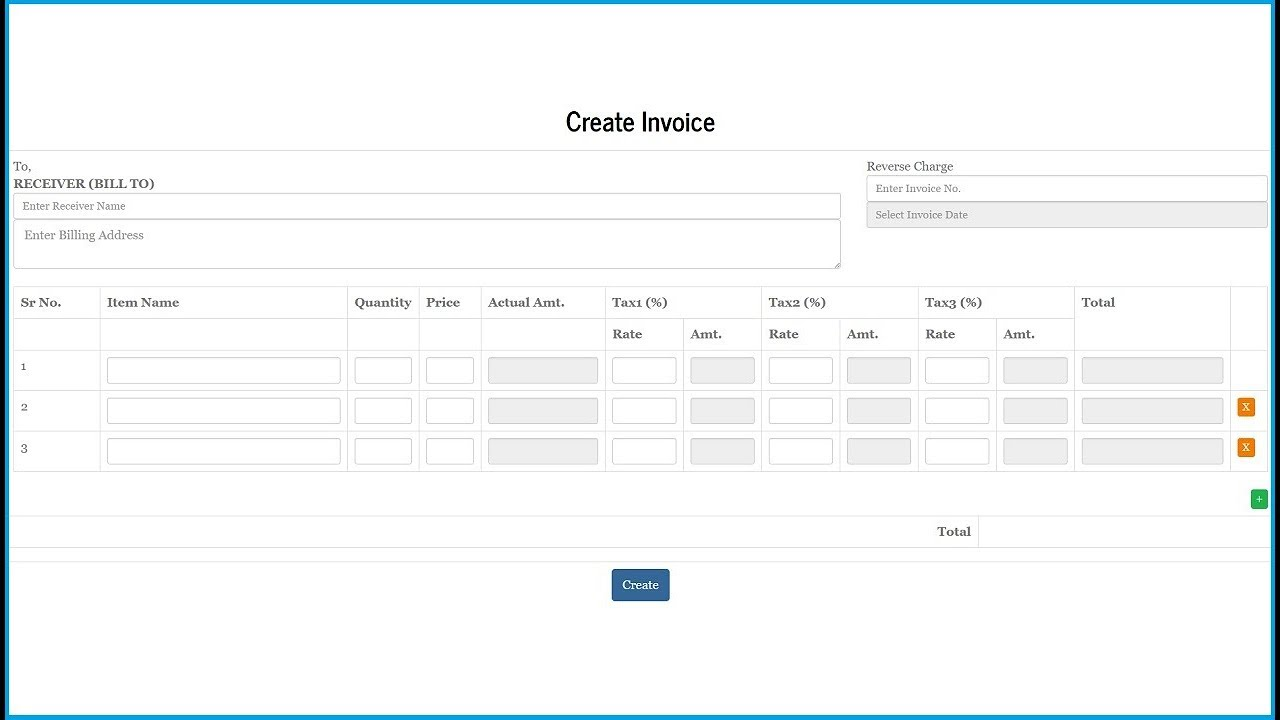 Invoice System Using Jquery PHP Mysql And Bootstrap YouTube - Php invoice script