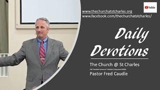Pastor's Devotion September 25, 2020, \