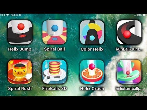 Helix Jump,Spiral Ball,Color Helix,Run Ball,Spiral Rush,FireBalls 3D,Helix Crush,Helix Bounce