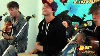"Emblem3 performs ""Chloe (You're the One I Want)"" Live at B98.5 FM"