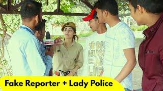 Fake Reporter with Fake Police Prank   Prank Rush   Pranks in India