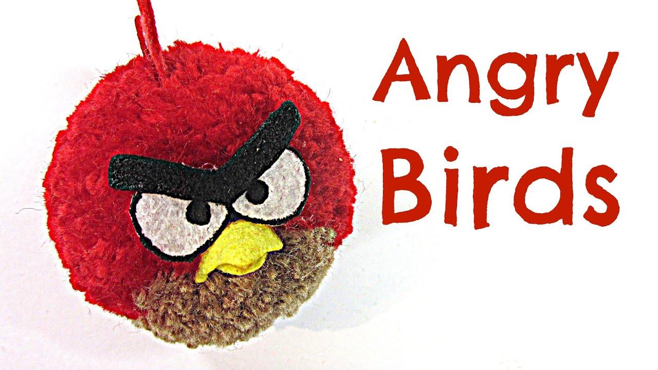 Tutorial angry birds como hacer pompones f cilmente - Como hacer pompones ...